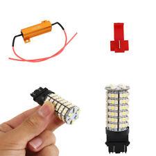 2X Resistors OF1157 3157 7443 White Amber LED Switchback Turn Signal Light Bulbs