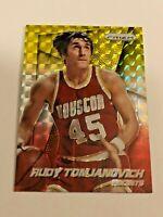 2014-15 Prizm Basketball Yellow & Red Mosaic - Rudy Tomjanovich - Rockets