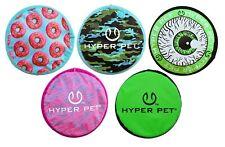 "Dog Frisbee Fetch Toy Soft Rubber Floating Flopper Flyer Disc 9"" Choose Pattern"