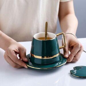 Cup Saucer Spoon Porcelain Ceramic Drinkware Breakfast Coffee Tea Milk Tableware