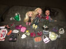 Bratz 3 Dolls With Accessories Purses Microphone Clothes Shoes Mga