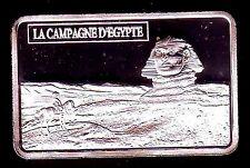 ★★ MAGNIFIQUE LINGOT PLAQUE ARGENT ● NAPOLEON ● EN EGYPTE DEVANT LE SPHINX ★★