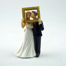 """ Picture  Perfect ""Couple Figurine Wedding Cake topper"