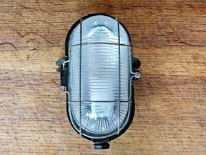 ancienne lampe hublot bakélite et verre industriel loft déco atelier  a voir n2