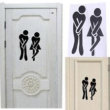 FR_ toilette wc salle de bain homme femmes autocollant decoratif mur porte
