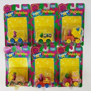 VTG Barney & Baby Bop Vehicles Die-Cast Cars Truck LOT Toys Child Dimension 1993