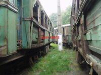 PHOTO  ROMANIA GHIOROC TRAM  DERELICT CARS V5