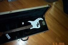 Austin Precision Bass Guitar Professional Black Beauty with Hard custom Case
