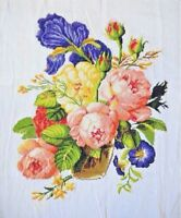 "New Finished Cross Stitch Needlepoint""Beautiful Flowers Vase""home Decor Gifts"