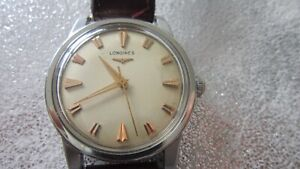 VINTAGE LONGINES CONQUEST AUTOMATIC STAINLESS STEEL GENTS WATCH CALIBRE 19AS