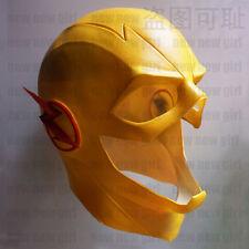 US Stock The Flash Mask & Zipper Yellow Reverse Flash Latex Mask Cosplay