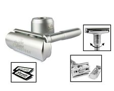 Shaving Factory PREMIUM RAZOR | Adjustable Double Edge Safety with STAND