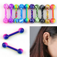 10x Stainless Steel Barbell Ear Stud Tragus Cartilage Helix Earrings Piercing XS