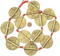 Strand of Lobi Tribe African Handmade Sun Brass Trade Beads- Pendant