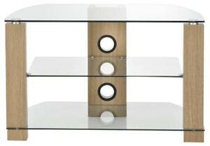 TV STAND CLEAR GLASS/OAK UP TO 50 INCH - AVS-L630-1050 / 3OC