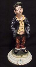 RARE Vintage Capodimonte Porcelain Figurine Whistling Street Urchin Boy