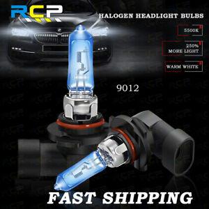 2x 9012 HIR2 Halogen Bulbs Headlight Lamps Beam Replacement OEM 55W 5500K White
