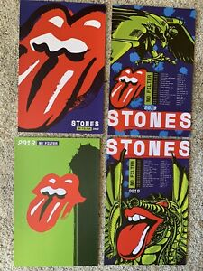 Rolling Stones 2019 No Filter VIP Lithograph Poster Book Set of 4 - Missing One