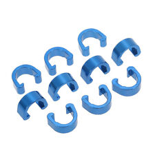 6x Blue Alloy Hydraulic Housing C-Clips Brake Cable Hose Frame C Clip UK seller