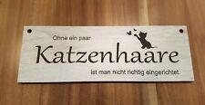 Türschild Deko Schild Katzenhaare Landhaus Shabby Retro lustig