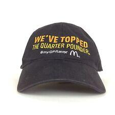 McDonalds We've Topped The Quarter Pounder MyQPFlavor Black Baseball Cap Hat Adj