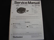 ORIGINALI service manual TECHNICS sl-xp190