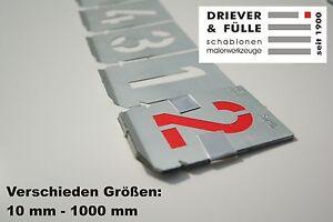 Signierschablonen Zahlensatz 0-9 ( 10 Stk ) starkes Zinkblech nach DIN 1451