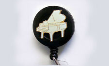 PIANO Retractable Badge Reel ID Card Holder/Key chain/Security Ring MUSIC