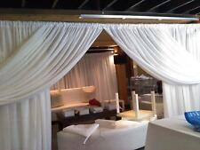 """Wedding Sheer Drape 7'x114"""" White, Ivory, Black, and colors Backdrop, dividers"""
