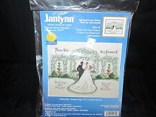 Janlynn Counted Cross Stitch Kit From This Day Forward 5474 Vintage 1999 Wedding