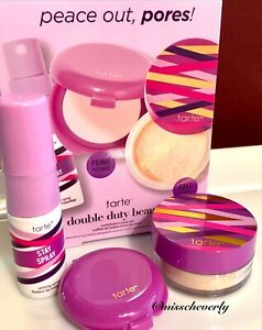 TARTE Shape Tape Pore & Prime Balm Primer + Setting Powder +Stay Spray MINI SET
