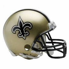 NEW ORLEANS SAINTS RIDDELL VSR4 MINI NFL FOOTBALL HELMET