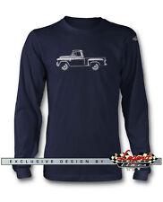 1955 Chevrolet Pickup TASK FORCE 3100 manga larga camiseta multicolor Colores &