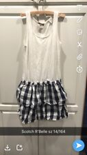Scotch R'Belle Tank Dress With Plaid Skirt Sz 152