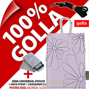 Golla Lilac Phone Case Bag For iPhone SE 5S 5C 5 4S, Samsung Galaxy S2, S4 Mini