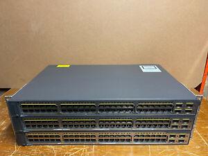 3 x Cisco WS-C3750V2-48PS-S
