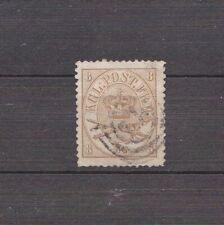 Dänemark 1864,Mi NR14gest Freimarke Kroninsignien im Doppeloval.8 skill (0180)