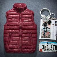 Mens Winter Down Vest Slim Collar Ultraligh Down Sleeveless Large Plus Size 6XL