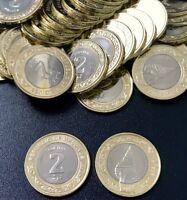MALDIVES 2 RUFIYAA 2016 / 2017 COIN SHELL BIMETALLIC NEW LOT 10 COINS UNC