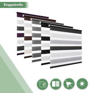 Doppelrollo ohne Bohren Rollos klemmfix Duo Rollo Seitenzug Fensterrollo