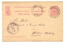 LUXEMBOURG 1891 10c POSTAL CARD USED
