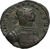AURELIAN Authentic Ancient 272AD Balkan Roman Coin HEROIC BUST Concordia i84736