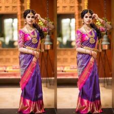 Banarasi silk saree indian Designer Ethnic wear formal wedding party sari GTH03