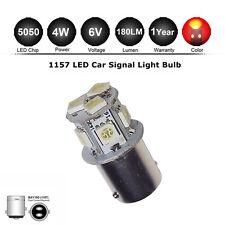 1x 6V 1157 bay15d 8SMD LED RED Motor Car Bulb Stop/Tail/Brake/Reverse/Rear Light