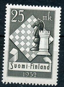 Finland Scott 308 Chess Olympics MNH 1952