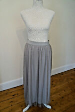 Silver Maxi Skirt Size 10 Double Layer Elastic Waistband Party New Kaleidoscope