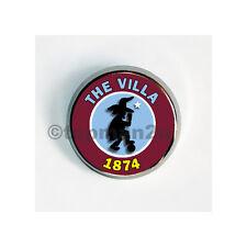 New, Quality Round Metal Pin Badge - The Villa 1874 - Villain - Aston