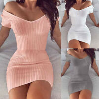 Women Holiday Mini Dress Style Sexy Solid Sleeveless Fashion Summer V-neck Dress