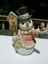 Precious Moments Home for the Holidays Snowman Ornament I0I073 with Box