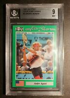 1991 Tennis 🌟 Tour Star Card Andre Agassi Graded Beckett GEM 9 .Awesome 🎾
